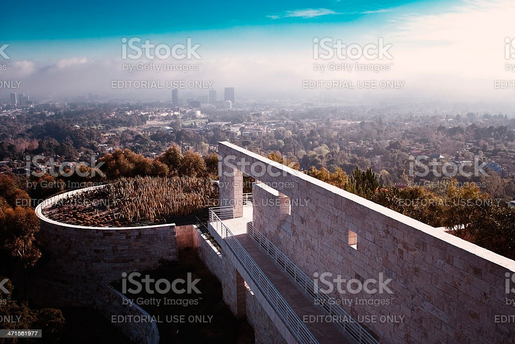 View From Getty Center stock photo