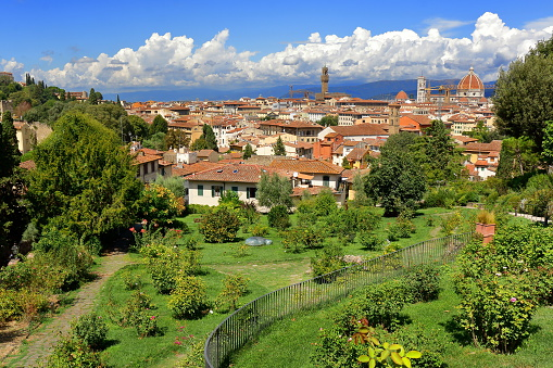 View from Giardino delle Rose in Florence, Italy