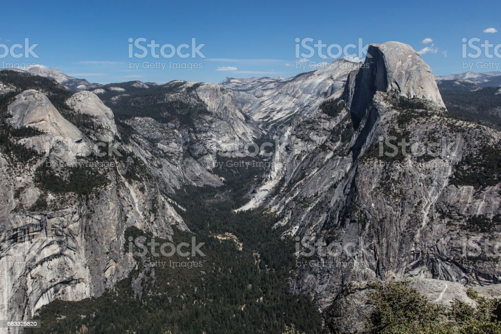 View from Glacier Point, Yosemite National Park, USA royalty-free stock photo