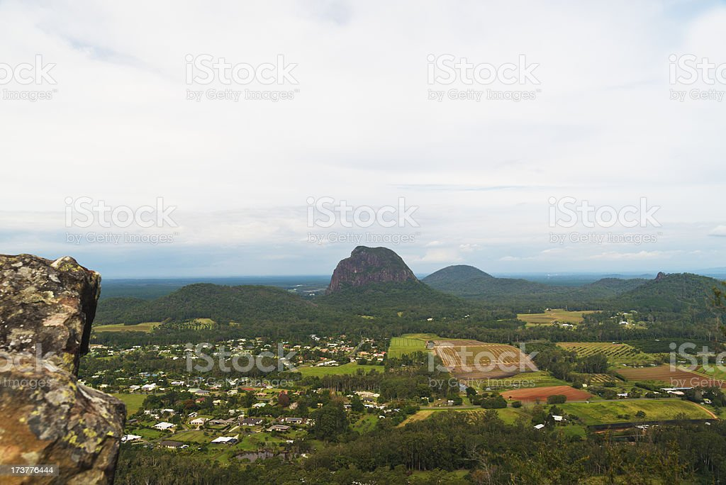 View from Glass House Mountains stock photo