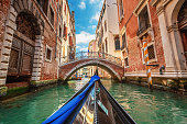istock View from gondola during the ride through the canals, Venice 510570992