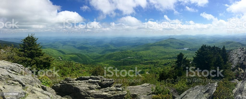 View from Grandfather Mountain, NC stock photo