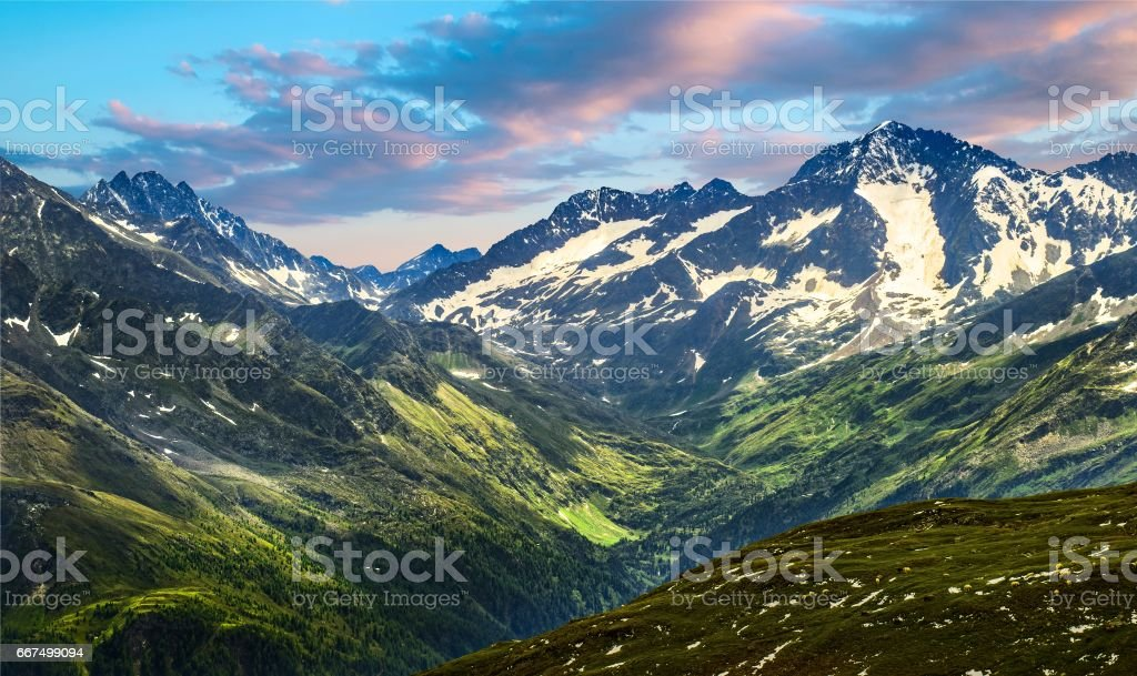 view from Grossglockner high Alpine road in Austria stock photo