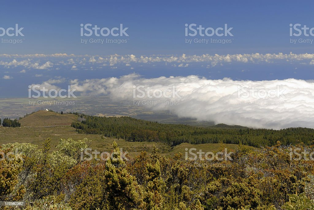 View from Haleakala National Park royalty-free stock photo