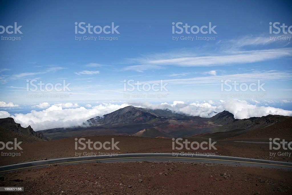 View from Haleakala stock photo