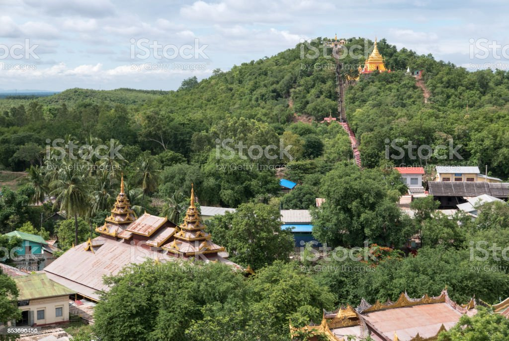 View from Hilltop, Hpo Win Daung, Monywa, Myanmar (Burma) stock photo