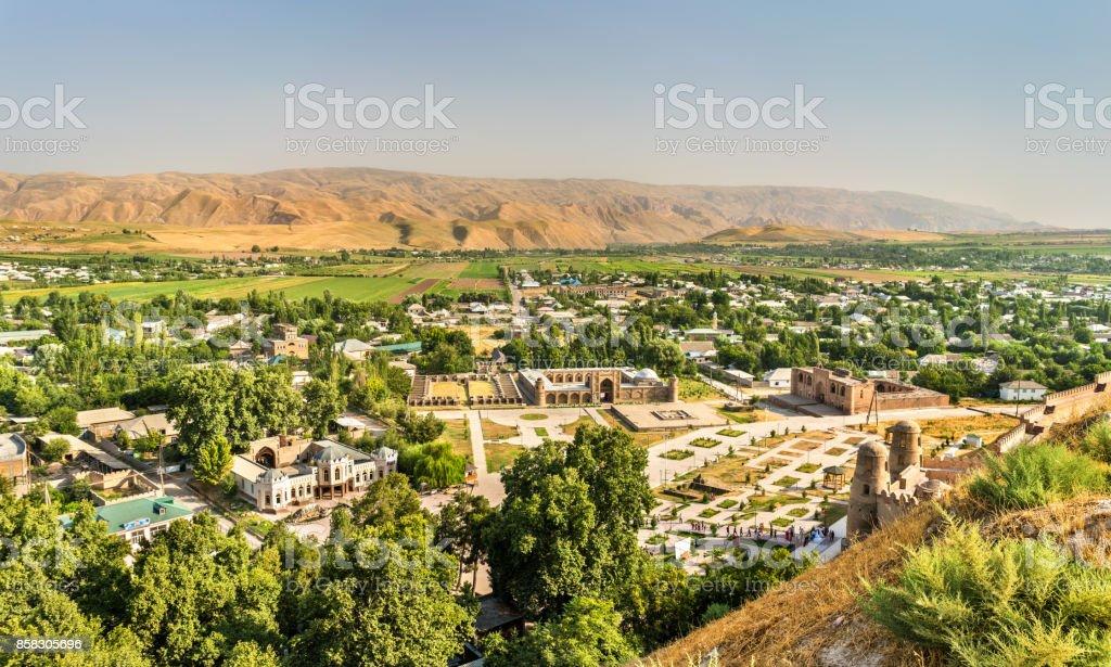 View from Hissar Fortress, Tajikistan stock photo