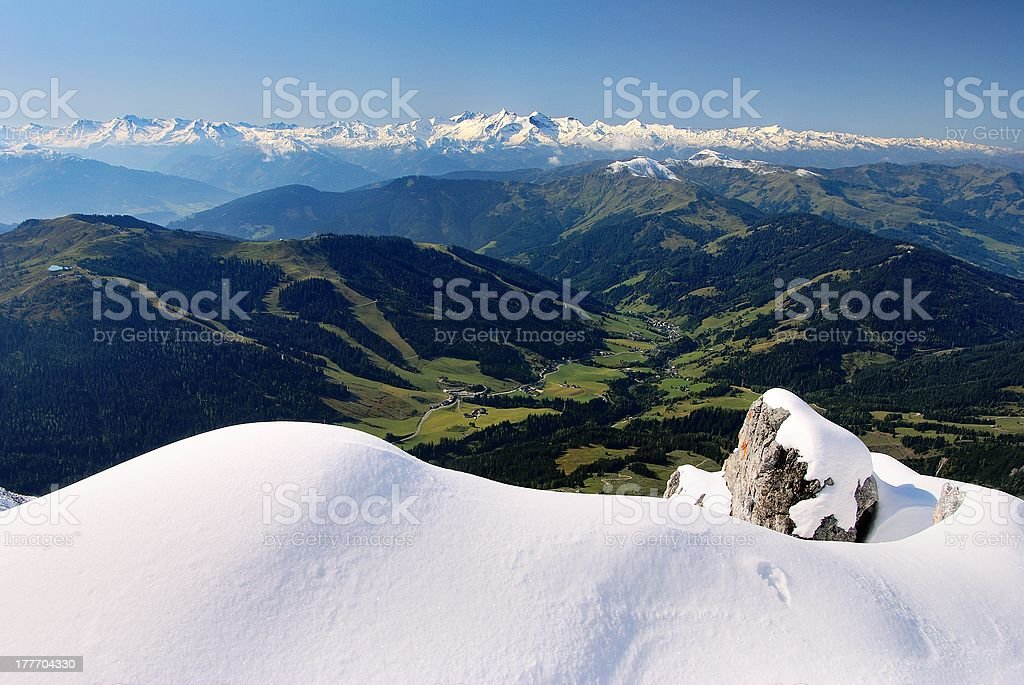 view from hochkonig to hohe tauern royalty-free stock photo