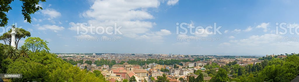 View from Janiculum over Rome royalty-free stock photo