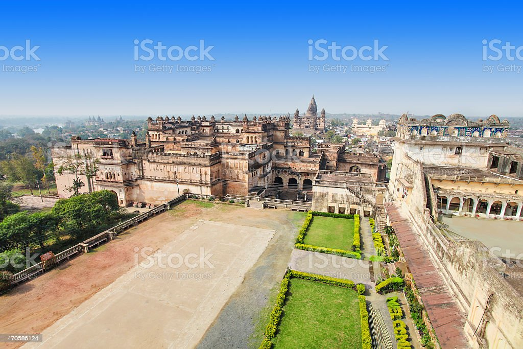 View from Jehangir Mahal stock photo