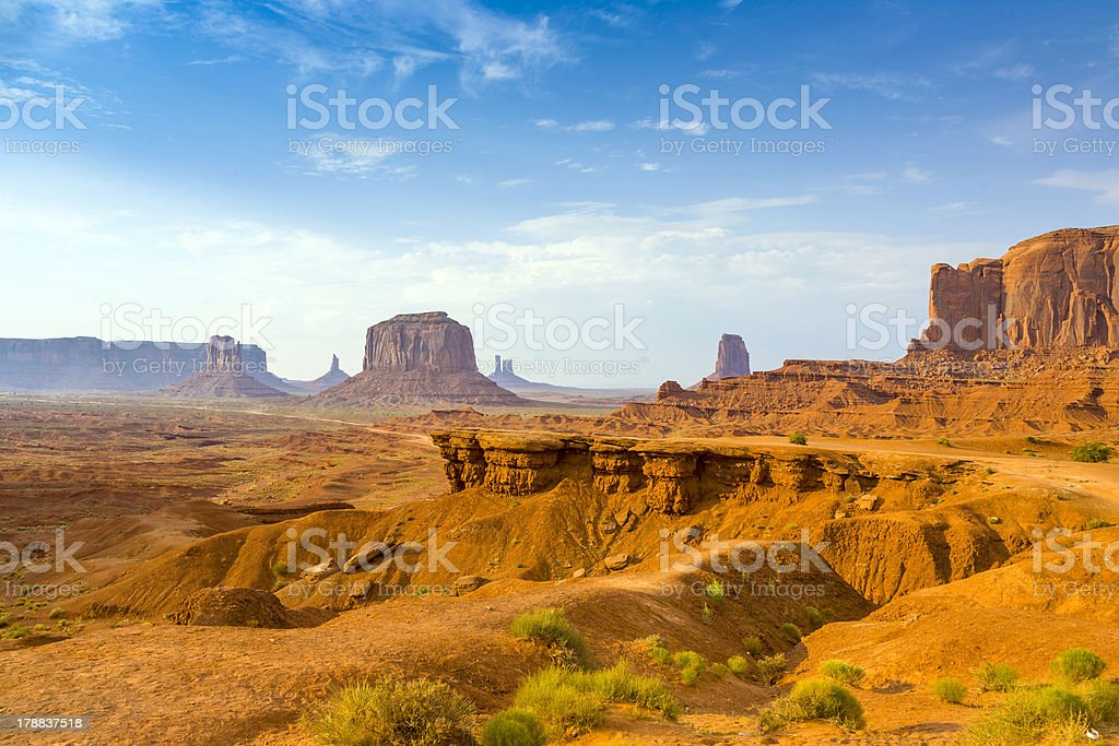 view from john fords point to the giant Merrick butte royalty-free stock photo