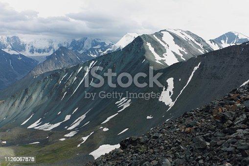 istock View from Kara-Turek Pass, Altai Mountains, Russia 1126067878