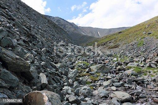 istock View from Kara-Turek Pass, Altai Mountains, Russia 1126682180