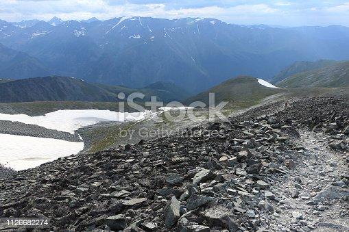 istock View from Kara-Turek Pass, Altai Mountains, Russia 1126682274