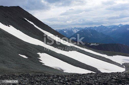 istock View from Kara-Turek Pass, Altai Mountains, Russia 1126682305