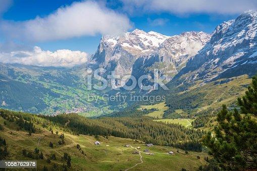 istock View from Kleine Scheidegg at Grindelwald (Berner Oberland, Switzerland) 1058762978