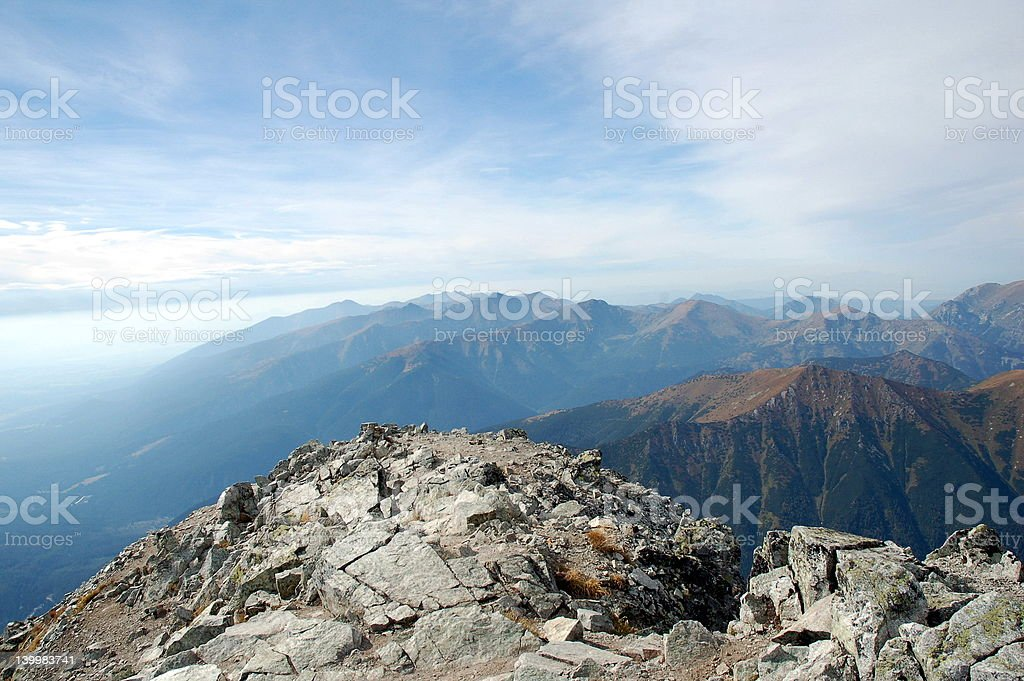 View from Krivan royalty-free stock photo