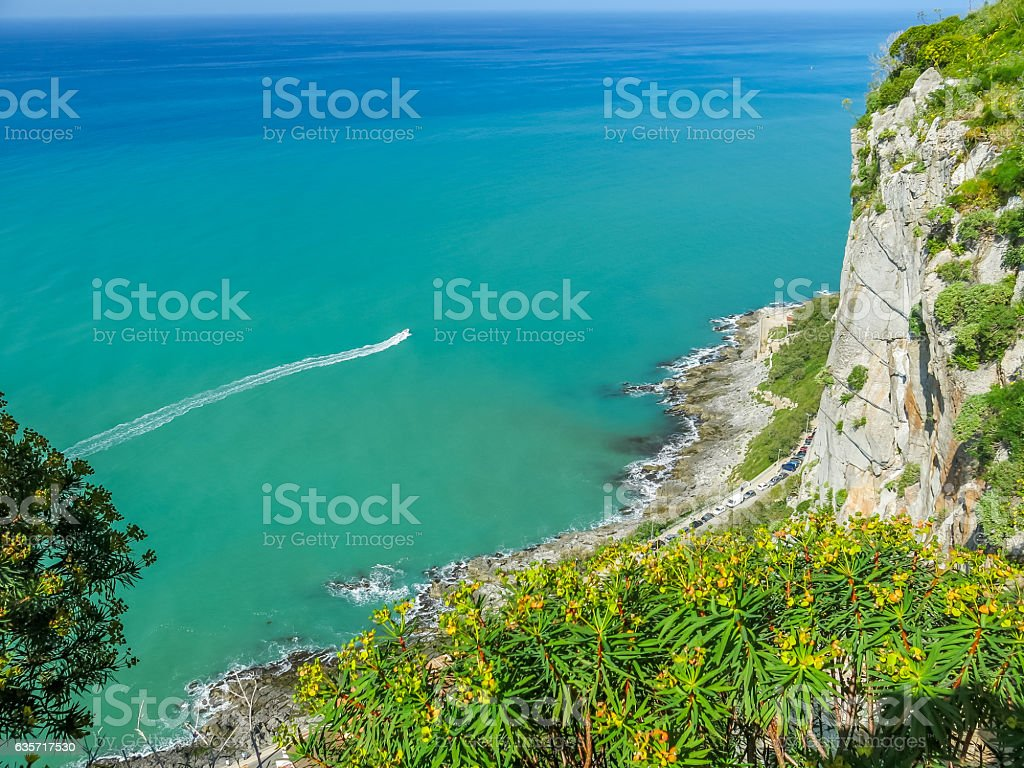 View from la rocca Cefalu stock photo
