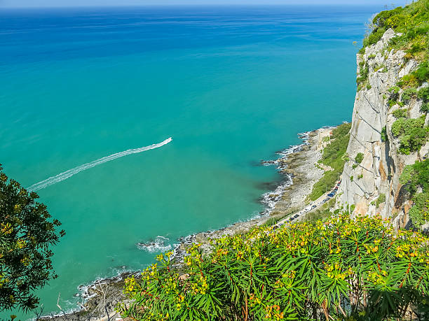 View from la rocca Cefalu - foto stock