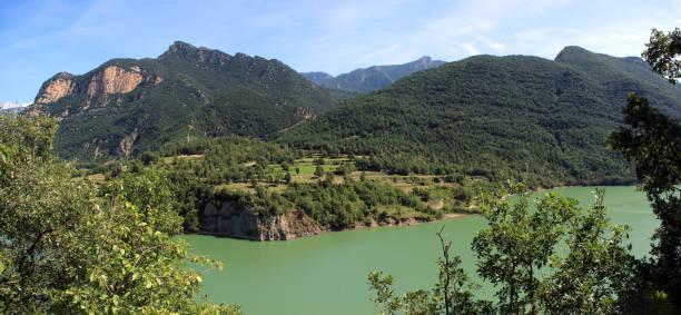 View from La Rodonella village towards the Embalse de la Baells in Catalonia, Spain stock photo