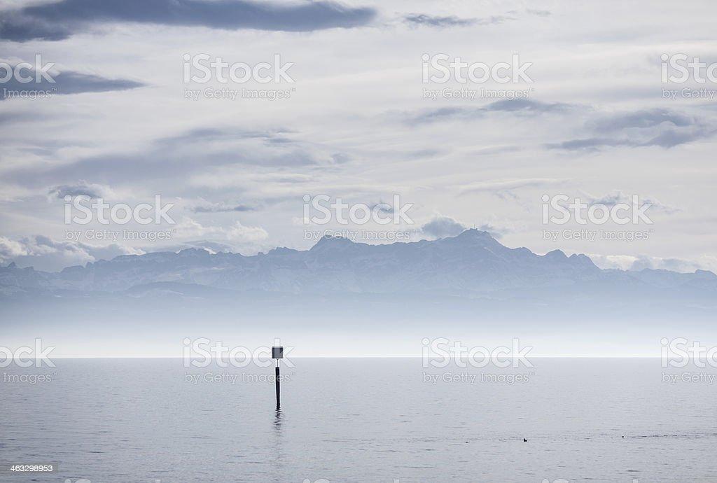 Blick vom lake constance in Schweizer Alpen – Foto