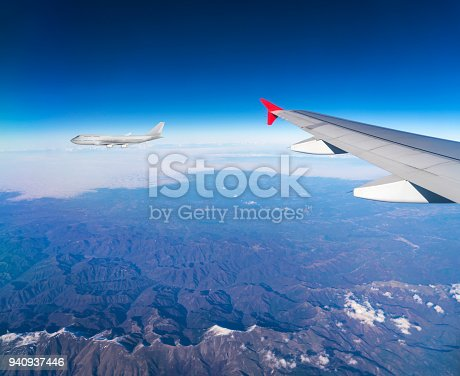 816320512 istock photo View from landing airplane window 940937446