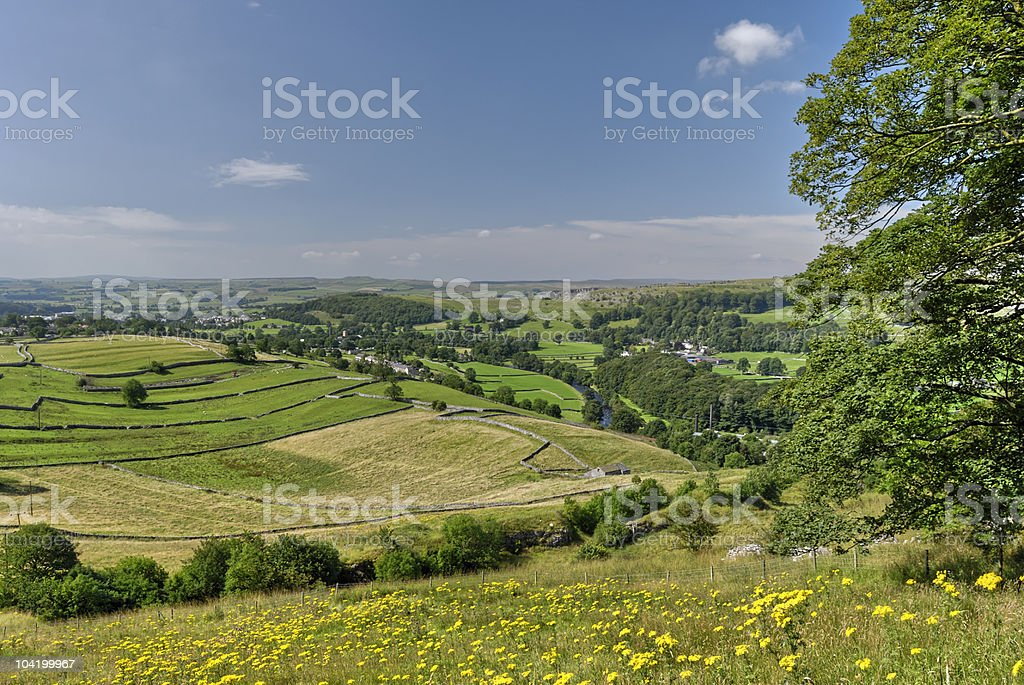 View from Langcliffe Scar stock photo