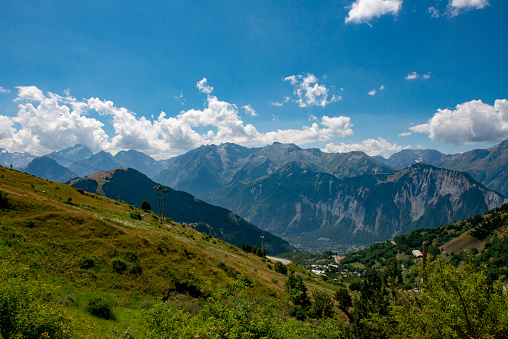 View from Les Deux Alpes in the summer