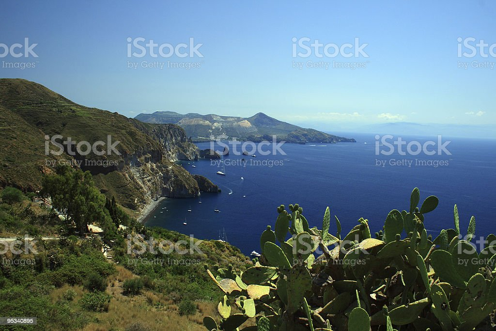 View from Lipari -  Quattrocchi royalty-free stock photo