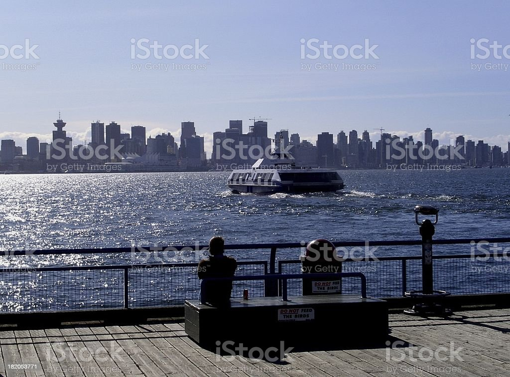 View From Lonsdale Quay stock photo