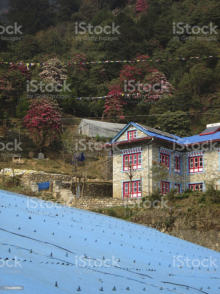 View from Lukla Airport royalty-free stock photo