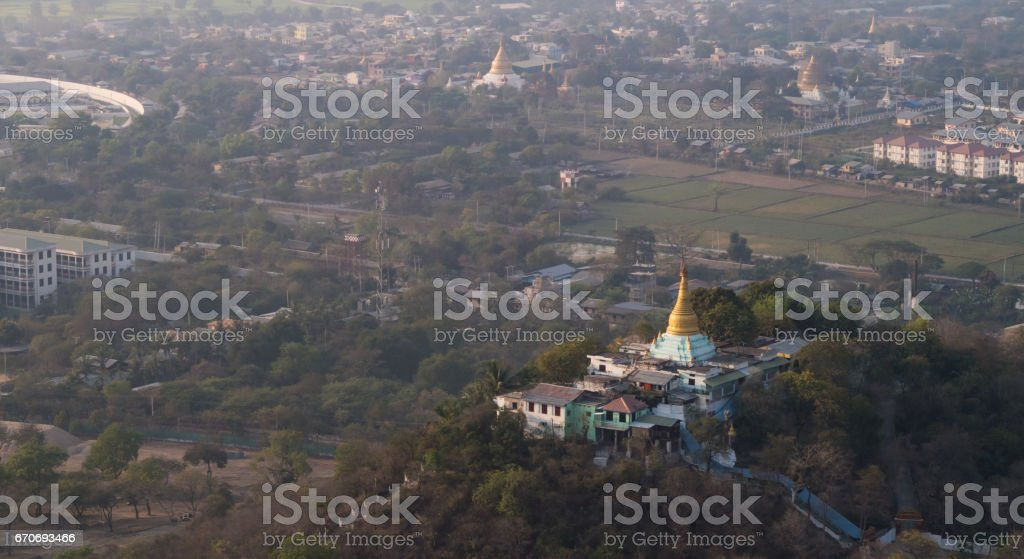 View From Mandalay hill, Myanmar stock photo