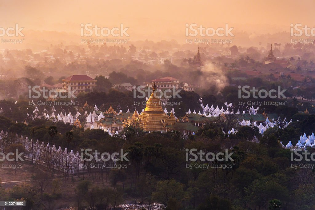 View from Mandalay Hill stock photo