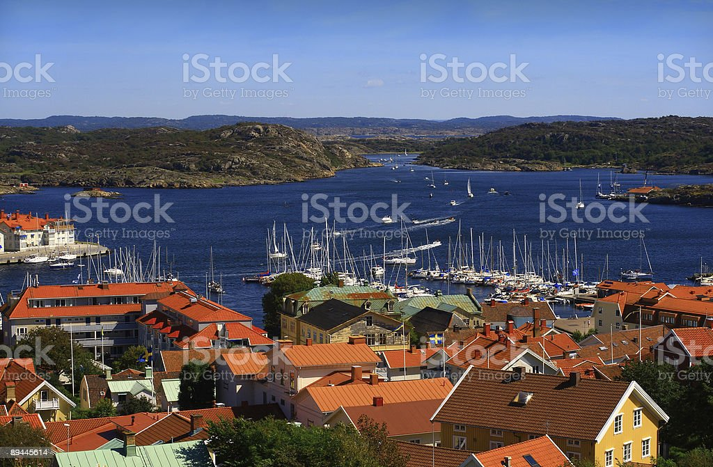 View from Marstrand castle royalty-free stock photo