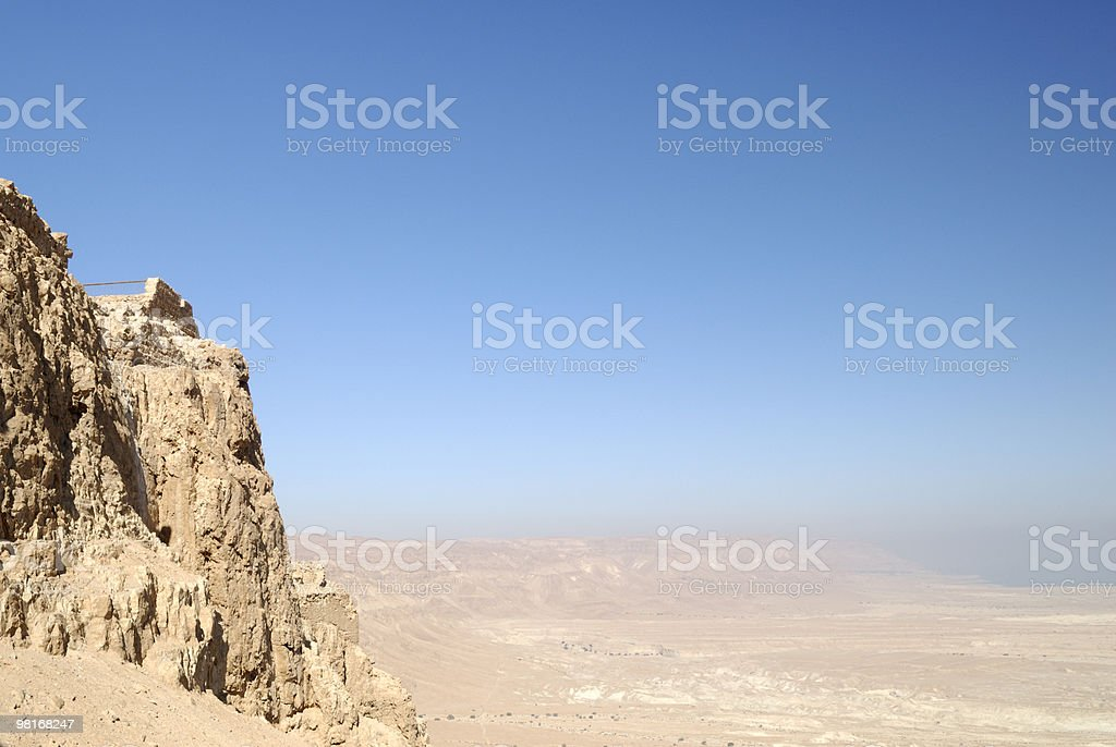 View from Masada royalty-free stock photo