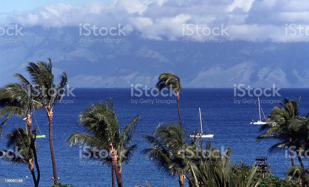 View from Maui royalty-free stock photo