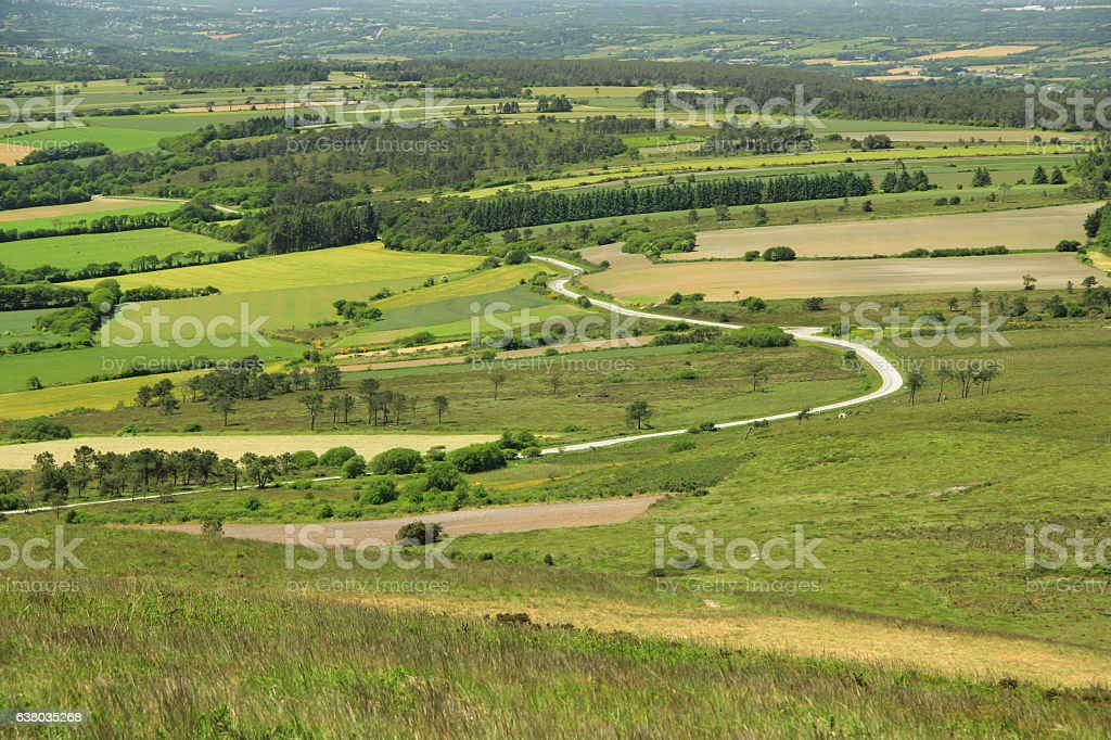 View from Menez Hom, France stock photo