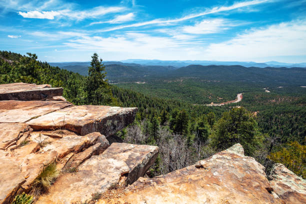 View from Mogollon Rim, Arizona stock photo
