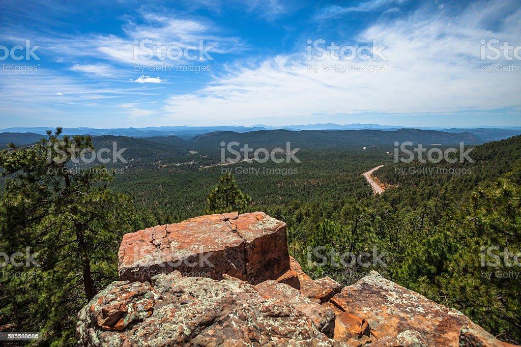 View from Mogollon Rim, Arizona. stock photo