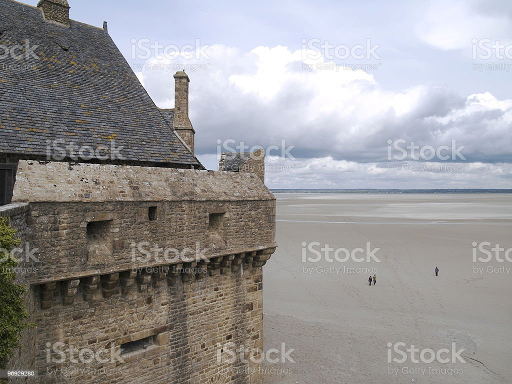 View from Mont St. Michel royalty-free stock photo