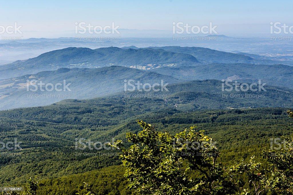 View from Monte Amiata Tuscany stock photo