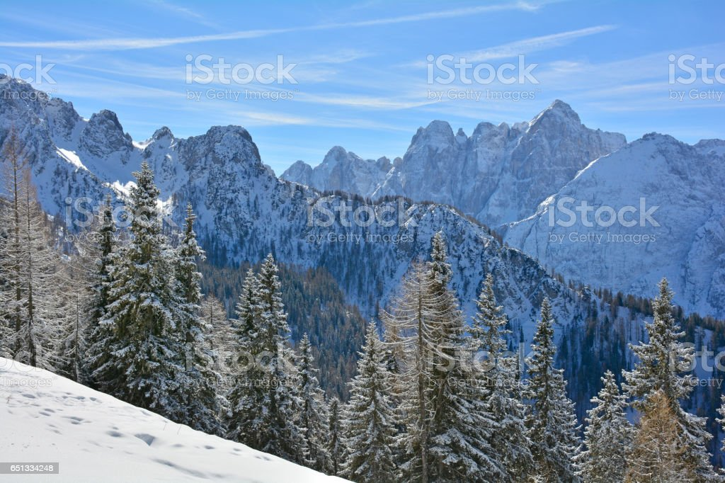 View From Monte Lussari stock photo