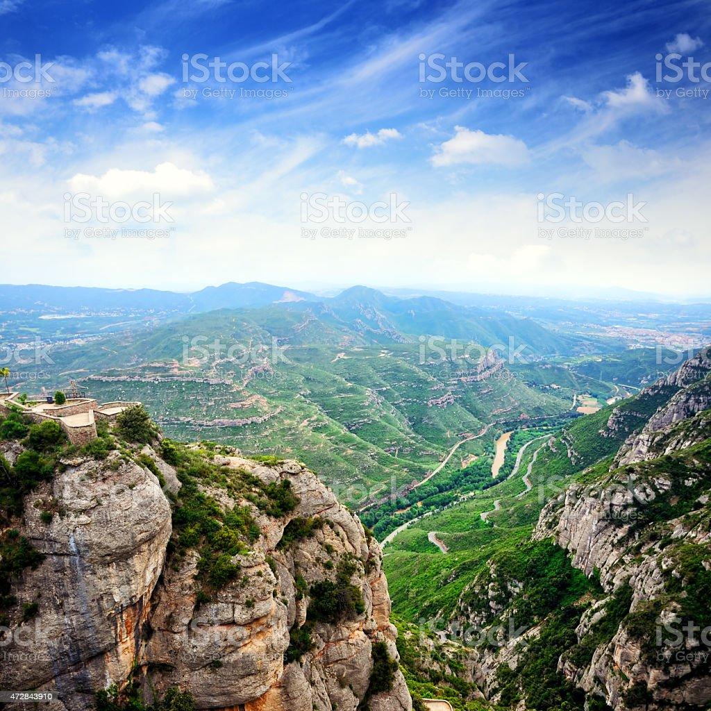 View from Montserrat monastery stock photo