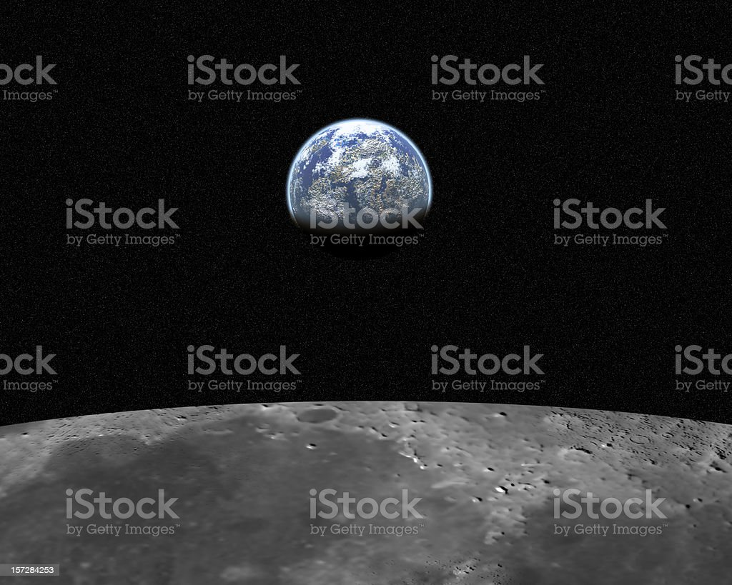 View from moon 2 (20 mega pixel) stock photo
