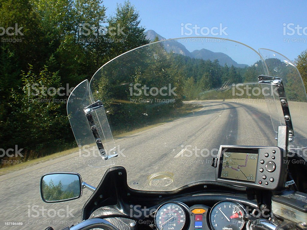 View from motorcycle stock photo