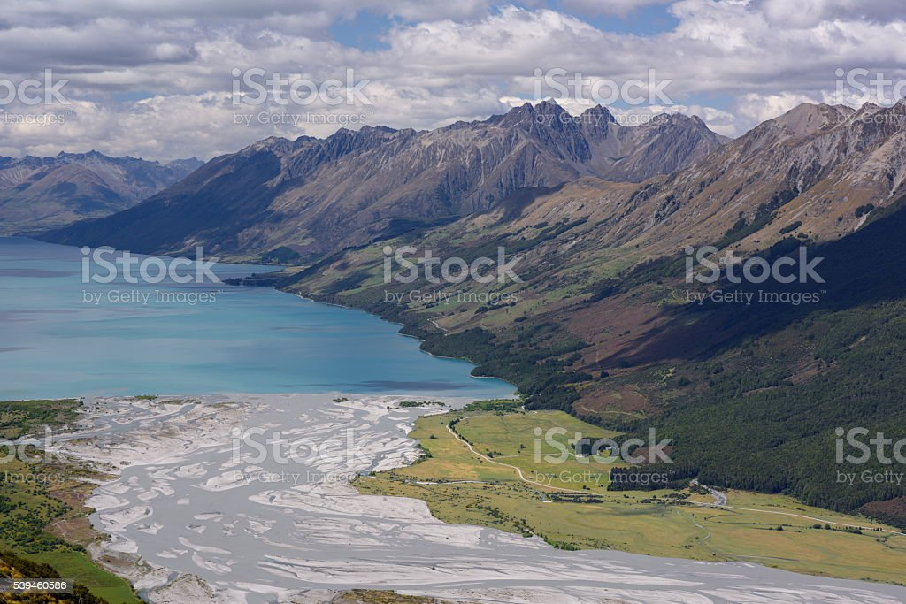view from mount Alfred, New Zealand stock photo