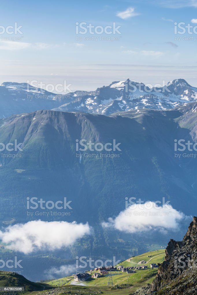 View from Mount Eggishorn stock photo