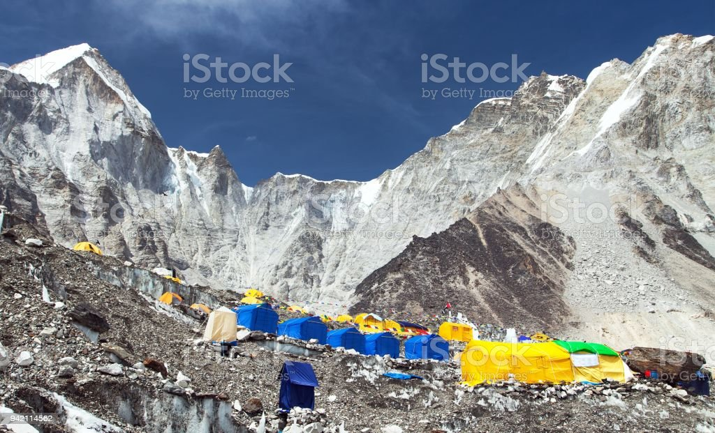 View from Mount Everest base camp stock photo