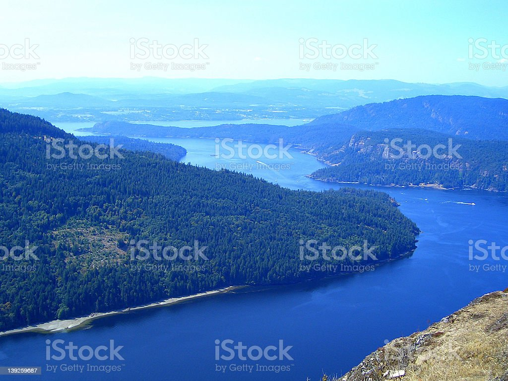 View from Mount Maxwell stock photo