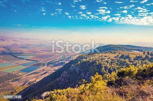 View from mount Menara, Upper Galilee, north Israel